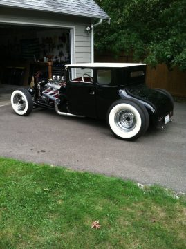 Chopped black&white 1926 Ford Model T Coupe Hot Rod for sale
