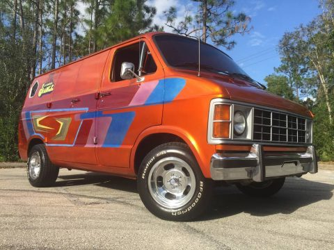 Psychedelic custom van: 1983 Dodge Ram 150 Custom Hot Rod Show Van for sale
