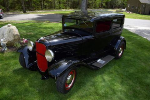 Beautiful Black 1931 Ford Tudor Hot Rod for sale