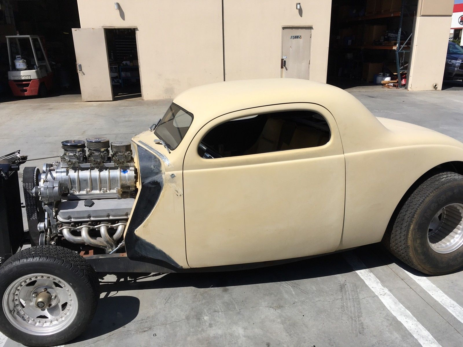 1937 Dodge Coupe Street Rod Project Car For Sale: 1937 Ford Monitti Pro Street Coupe Project Car For Sale