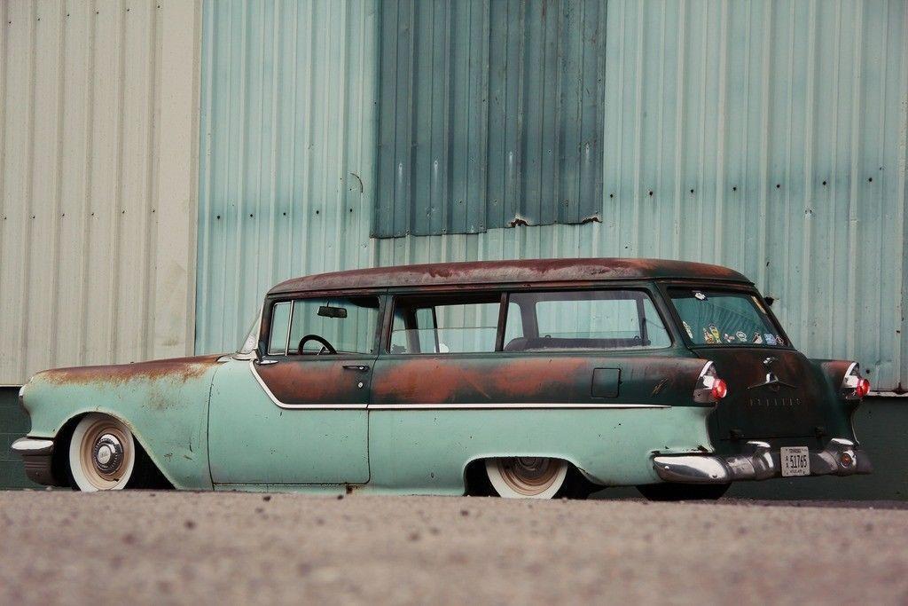 Pontiac Door Wagon Hot Rod Patina Air Ride Stationwagon For Sale